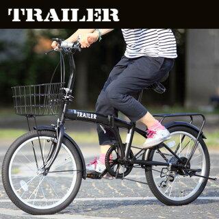 20インチ折りたたみ自転車[シマノ6段変速カギカゴライトリアキャリア自転車]bgc-f20