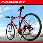 700Cクロスバイク470mmブラックシマノ21段変速軽量アルミフレームライト自転車CANOVERカノーバーcac-021