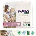 【送料無料】BAMBO Nature ベビー 無添加 おむつ 敏感肌 おむつかぶれ Midi 3号(4-8kg)29枚入り バンボネイチャー