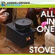 薪ストーブ 煙突 セット 板 ガラス コンパクト BBQ コンロ グリル キャンプ クッキングストーブ ドッペルギャンガー アウトドア はじめてのまきちゃん ms1-486