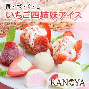 いちご四姉妹アイスクリームセット (短冊のし)