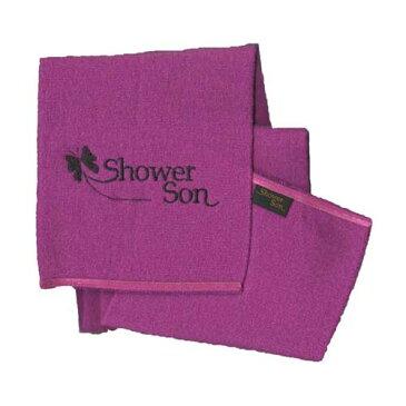 シャワーソン・タオル Showersontowel 1枚(71cm) 色はピンクのみ【メール便可】 あかすりタオル 肌に優しい 特許繊維 肌を傷つけない 気持ちいい 韓国