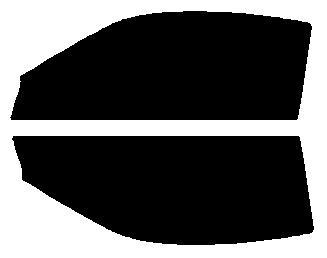 簡単ハードコートフィルム 運転席、助手席 シルビア S15 カット済みカーフィルム