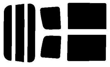 簡単ハードコートフィルム リヤガラス、リヤサイドガラス各色選択 エブリィ バン ハイルーフ DA64V リヤセット カット済みカーフィルム