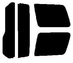 簡単ハードコートフィルム リヤセット パジェロミニ H53A・H58A 後期  カット済みカーフィルム