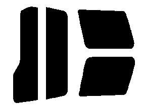 原料着色ハードコートフィルム リヤセット パジェロミニ H51A・H56A・H57A 前期 カット済みカーフィルム アイケーシー株式会社製のルミクールSDフィルムを使用