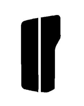 ▼原料着色ハードコート リヤのみ パジェロミニ H51A・H56A・H57A 前期 カット済みカーフィルム アイケーシー株式会社製のルミクールSDフィルムを使用