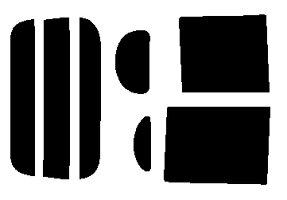 簡単ハードコートフィルムタントL375S・L385Sリヤセットカット済みカーフィルム
