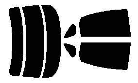 簡単ハードコートフィルム  リヤガラス、リヤサイドガラス各色選択可能 ブルーバードシルフィ G11 リヤセット カット済みカーフィルム