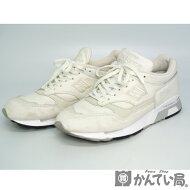 newbalance【ニューバランス】NBM1500WGレザースニーカーローカット靴日本サイズ約26.5cmホワイト×グレーイングランド製メンズ【USED-AB】【質屋かんてい局名古屋西店】