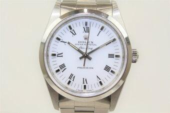ROLEXロレックスエアキング14000N番SSホワイトメンズボーイズ腕時計【】