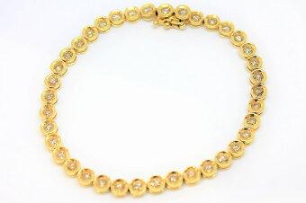 【ブレスレット】ダイヤモンドテニスブレスダイヤK18750D3.0ct大人ゴージャス豪華キレイ上品ジュエリー宝石プレゼントにいかがですか?ギフト包装可【】
