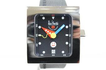 【替えベルト付】ALAINSILBERSTEINアラン・シルベスタインペイブ・スマイルディVS11ラバーベルトSSステンレススチールデイト曜日ブラックメンズ腕時計【】