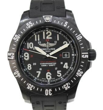 BREITLING コルト スカイレーサー X74320E4 ブライトライト ラバーベルト クォーツ ブラック デイト メンズ ウィメンズ 腕時計【中古】