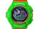 【環境団体とのコラボレーションモデル】CASIO カシオ G-SHOCK マッドマン GW-9300K-3JR タフソーラー デジタル ラバー 緑 オレンジ メンズ 腕時計【中古】
