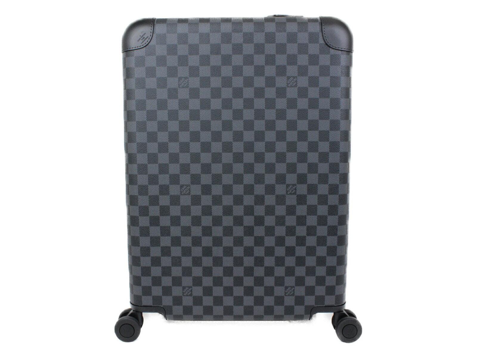LOUIS VUITTON ホライゾン55 N23209 ダミエ・グラフィット ダミエ・キャンバス レディース メンズ ユニセックス スーツケース キャリーケース 旅行鞄 プレゼント包装可【中古品】