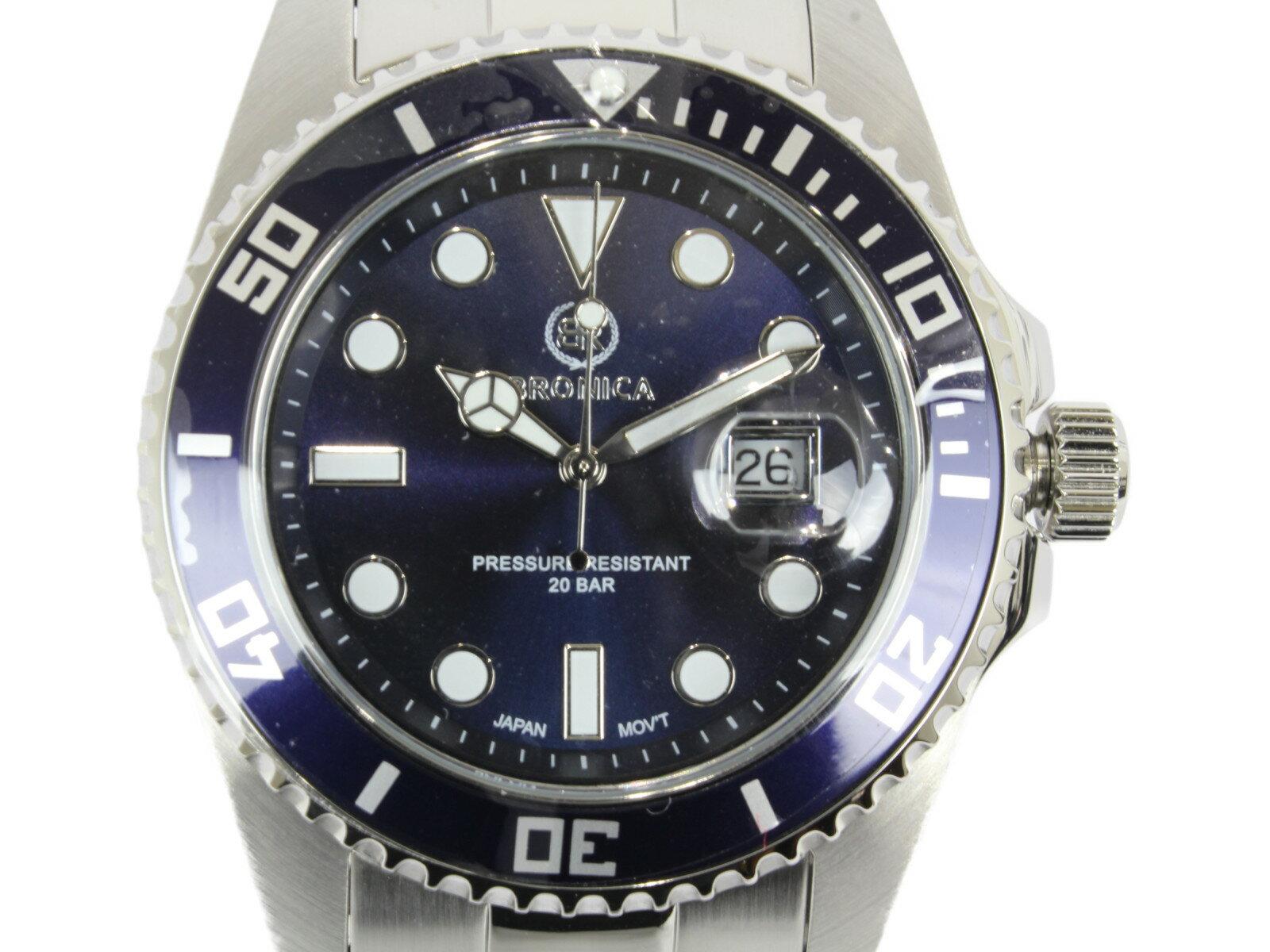 腕時計, メンズ腕時計 BRONICA BR-818-NV SS 20