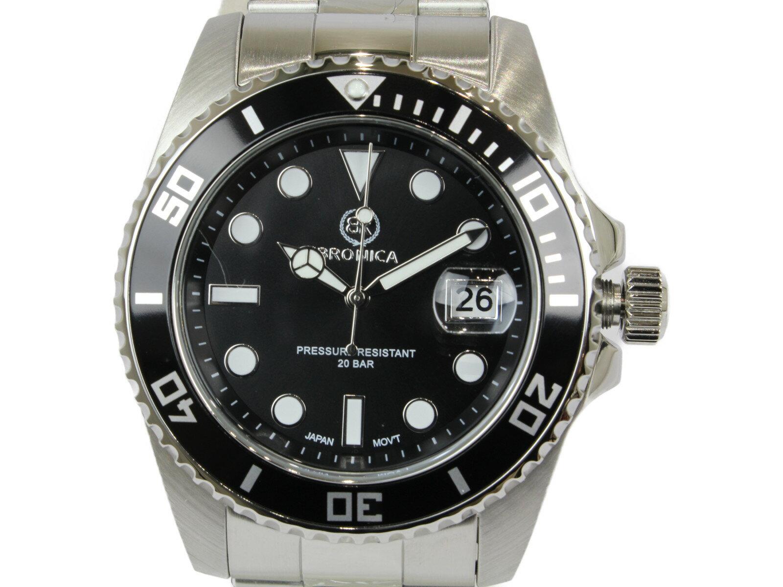 腕時計, メンズ腕時計 BRONICA BR-818-BK SS 20