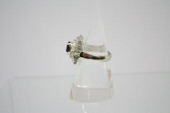 サファイアリングサファイア1.34ctダイヤモンド2.50ctPt90010.1g12号【】
