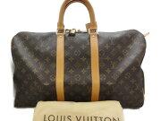 LOUISVUITTONルイヴィトンキーポル45M41428モノグラムボストンバッグ旅行バッグ男女兼用【