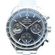 OMEGAオメガ32430385001001スピードマスター38コーアクシャルクロノグラフ黒文字盤メンズ