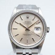 ROLEXロレックス16234デイトジャストX番1991年頃シルバー文字盤OH済メンズ腕時計高級時計