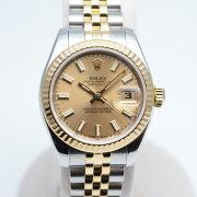 ROLEXロレックス179173レディデイトジャストF番2003年〜2004年頃コンビデイト表示ゴールド