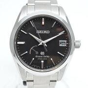 GRANDSEIKOグランドセイコ—SBGA085スプリングドライブパワーリザーブ自動巻き時計ブラック/シル
