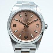 ROLEXロレックス14000MエアキングP番(2000年)ピンク文字盤自動巻きメンズ腕時計OH済み