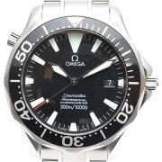 【OMEGA】オメガシーマスター300プロフェッショナル2254.50自動巻きメンズ腕時計黒文字盤オー