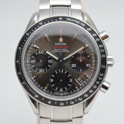 オメガOMEGAスピードマスターデイト323.30.40.40.06.001クロノグラフメンズ腕時計グレー文字盤クロノメ