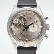 【ZENITH】ゼニスエルプリメロクロノマスターオープン03.2080.4021シルバー文字盤メンズ腕時計【中古】