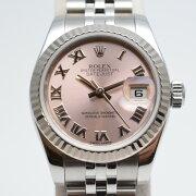 ROLEXロレックス高級時計179174ランダム番2014年製頃デイトジャストピンクローマン自動巻きレ
