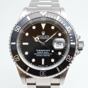 ROLEXロレックス16610W番(1994年〜1995年頃)サブマリーナデイトブラック/シルバー腕時計メ