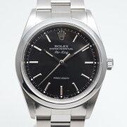 ROLEXロレックス14000エアキングA番1998年〜1999年頃ブラック/シルバー腕時計自動巻きステ