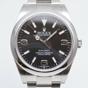 ROLEXロレックス214270エクスプローラー1G番ブラック文字盤ステンレススチール腕時計メンズ39