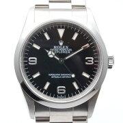 ROLEXロレックス14270エクスプローラーA番(1999年海外記載)ブラック/シルバーステンレススチール