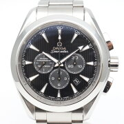 OMEGAオメガ231.10.44.50.06.001シーマスターアクアテラコーアクシャルメンズ腕時計ブラッ