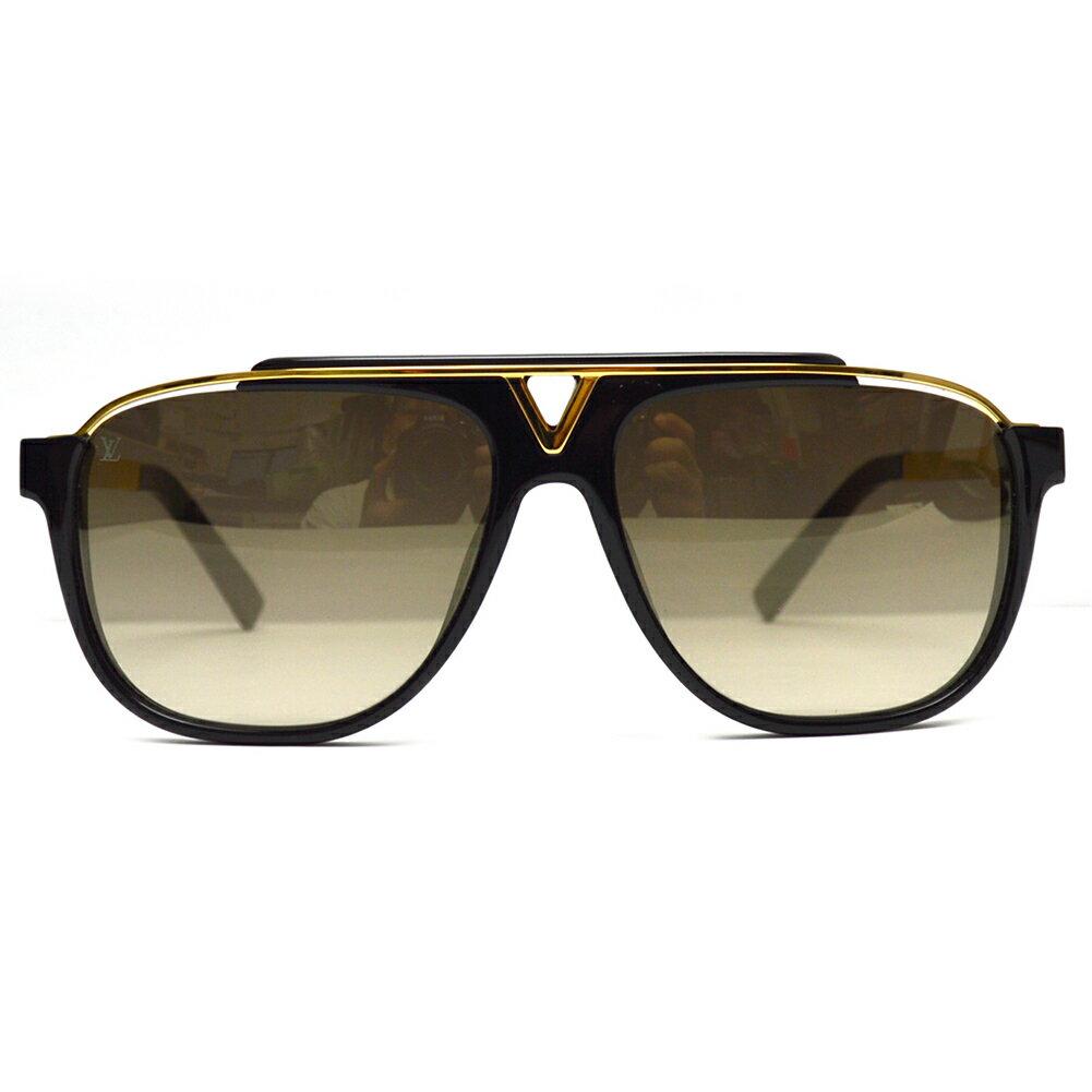 LOUIS VUITTON【ルイヴィトン】サングラス Z0936E ブラック ゴールド メンズ レディース【中古】