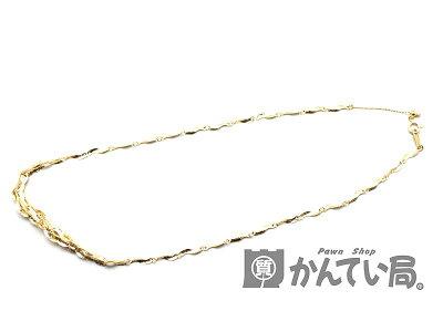 K18デザインネックレスアクセサリー約44.5cm5.4g【】USED-A質屋かんてい局北名古屋店n17-1293