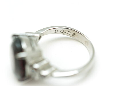Pm900ロードライトガーネット6.42ctダイヤ0.22ctリング指輪約7.5号アクセジュエリープラチナUSED-A【】質屋かんてい局北名古屋店n17-2686