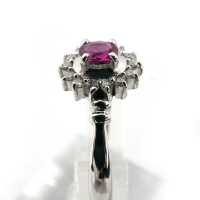 リングPt900ルビーダイヤモンドR0.22/D0.10ct指輪12号【】USED-Ah16-3941かんてい局細畑店