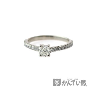 TIFFANY&Co. [Tiffany & co] Half Eternity Engagement Ring Ring D0.26 Pt950 Approx. 7 New Finished Ladies [Used] USED-9 Pawn Shop Kantai Bureau Komaki Store c3103409928500007