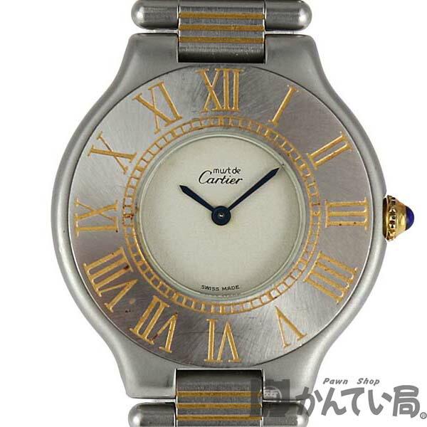 腕時計, レディース腕時計 CARTIER W10072R6 21 SS K18YG USED-7 c20-37
