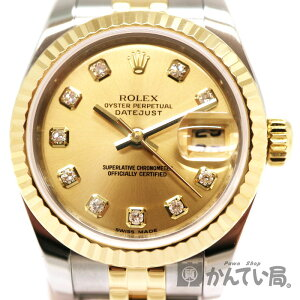 ROLEX 179173G Datejust Manufactured around 2006 Stainless steel K18YG 18 gold Yellow gold Automatic winding Date display Brand fashion watch Ladies USED-9 [Used] A2000576 Pawn shop Kantai Bureau Akanebe store