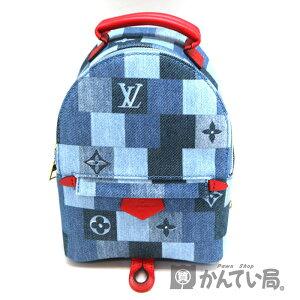 LOUIS VUITTON [루이비통] M45043 Palm Springs Backpack MINI 배낭 데님 모노그램 캔버스 블루 계 x 레드 계 미사용 전시품 [중고] A2000343 전당포 간 타이 사무국 아카네 베점