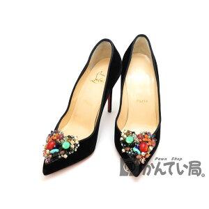 كريستيان لوبوتان [كريستيان لوبوتان] 3160823 DIVACORA Pumps Smooth Ladies Shoes 36 1/2 Approx. 23.5cm 9cm Heel [مستعملة] USED-7 Pawn Shop Kantai Bureau Kita Nagoya Store n19-1065