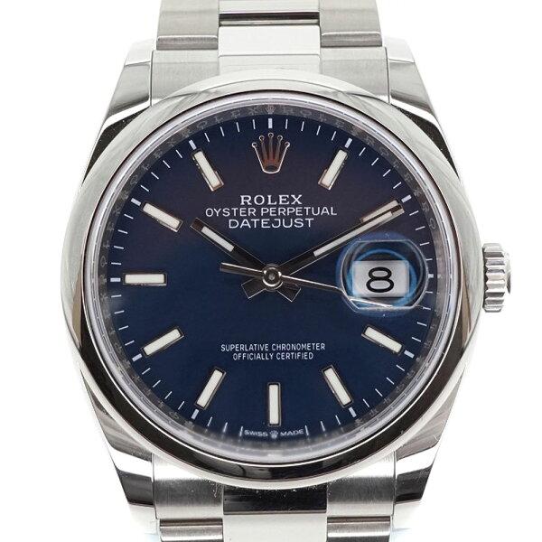 ROLEX ロレックス 126200デイトジャスト36メンズ腕時計自動巻きオートマチックブルー文字盤ステンレススチールカレンダー