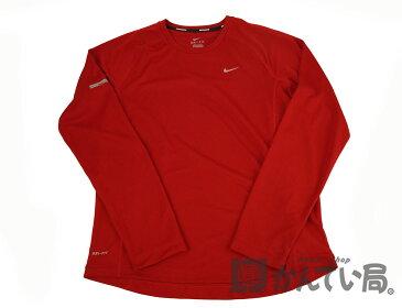 【NIKE】ナイキ 長袖Tシャツ DRY−FIT スポーツTシャツ ウェア レッド Mサイズ 【中古】F68-0000-6 USED-B かんてい局本社