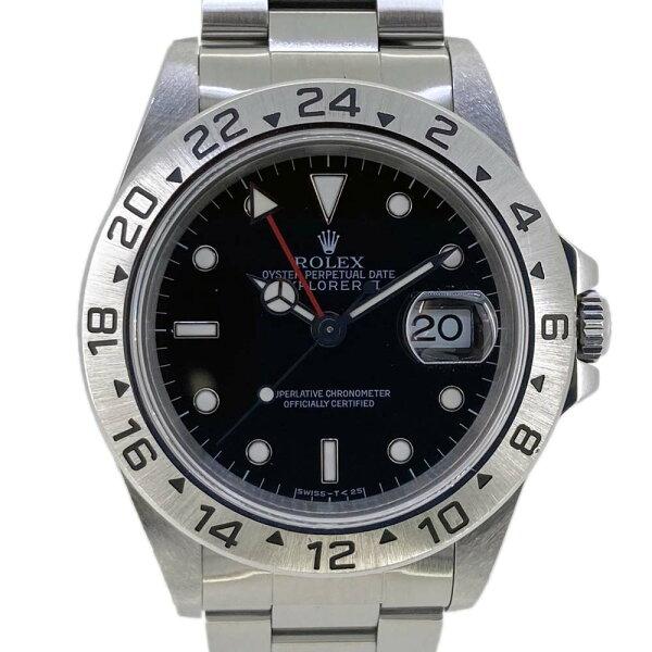 ROLEX ロレックス 16570エクスプローラー2U番腕時計自動巻きダブルバックルオールトリチウムステンレススチールメンテナン